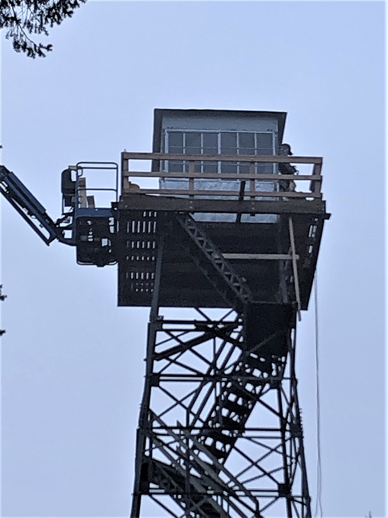 Close up of fire tower