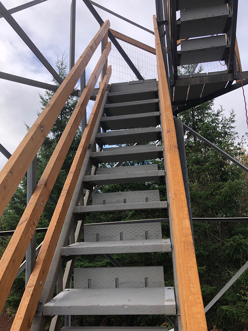 Long stair case leading up to fire watch